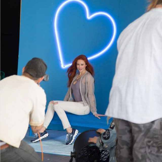 Behind the scenes from the big Skechers campaignshooting we didhellip