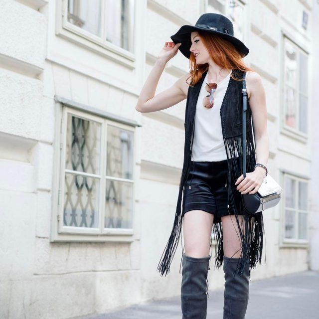Streets of Vienna  fashionstyling hatweather fransen fringes fringefashion fringetophellip