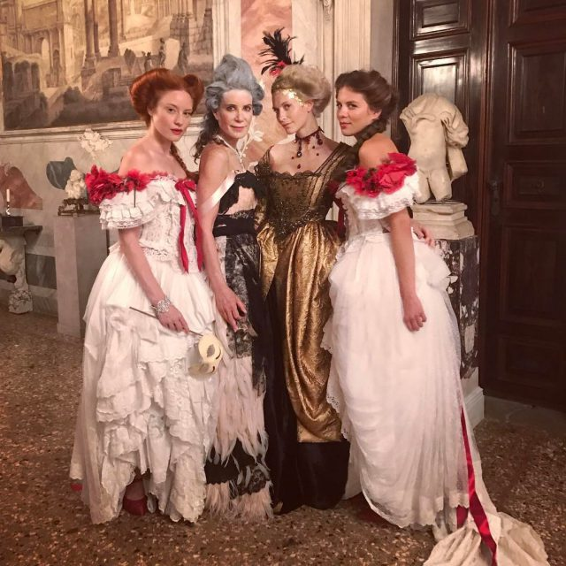 Loved the great DolceampGabbana dresses and Bulgari jewelry! Made shootinghellip