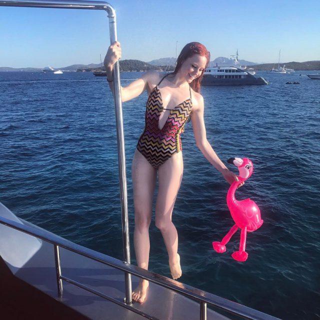summerlove flamingo watertoys turquoisewater spielzeug summerfeeling model bathingsuit missoni