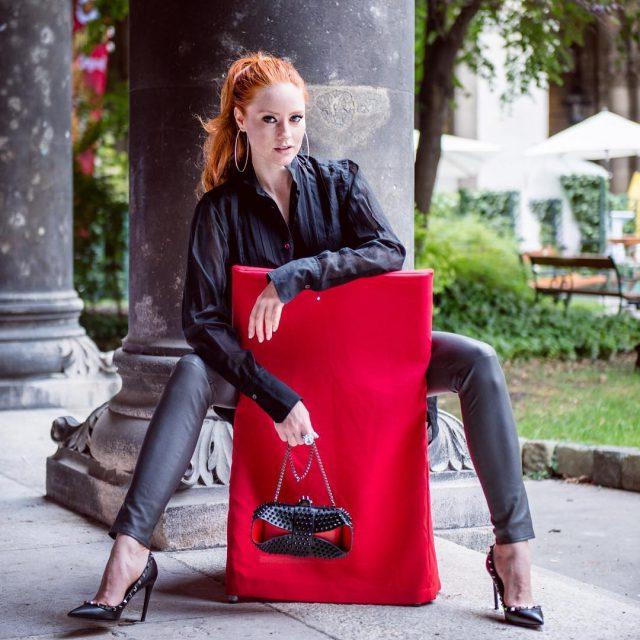 ootd fashioninspiration rotrotrot redhead model valentinohellip